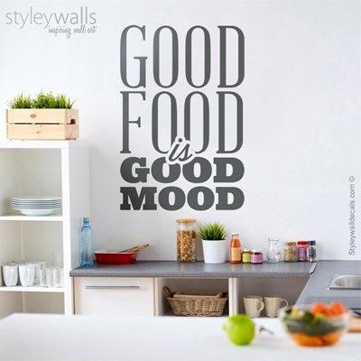 מדבקת קיר Good Food Good Mood